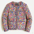 J. Crew Jackets & Coats | J.Crew Quilted Liberty Margaret Annie Lady Jacket | Color: Gray | Size: 4