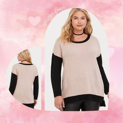 Torrid Sweaters | Clearance Torrid Plus Sweater, Size 4x Euc | Color: Black/Cream | Size: 4x