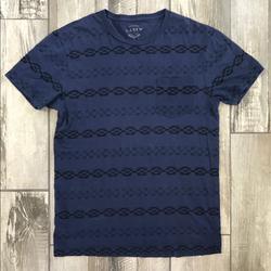 J. Crew Shirts   J Crew Crewneck Patterned Front Pocket Shirt   Color: Blue   Size: M