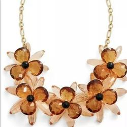 Kate Spade Jewelry | Kate Spade Blooming Brilliant Statement Necklace | Color: Tan | Size: Statement Necklace
