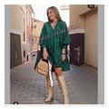 Zara Dresses | Lastzara Voluminous Dress, Bloggers Favorite | Color: Green | Size: Various