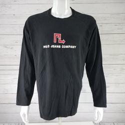 Ralph Lauren Shirts | Ralph Lauren Polo Jeans Shirt Black Ls T-Shirt | Color: Black | Size: L