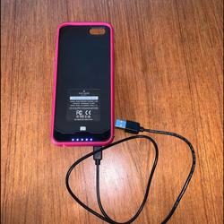 Kate Spade Other | Kate Spade Iphone 7 Battery Case | Color: Black/Pink | Size: Iphone 7