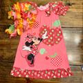 Disney Pajamas | Cute Disney Little Girls Minnie Nightgown (4) | Color: Pink/Red | Size: 4g