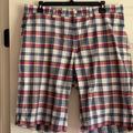 Polo By Ralph Lauren Shorts   Mens Ralph Lauren Plaid Shorts   Color: Blue/White   Size: 34