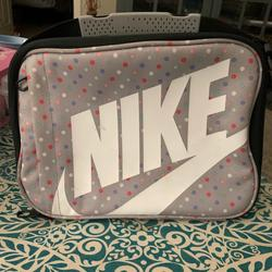 Nike Accessories | Nike Polka Dot Lunch Box. Excellent Condition! | Color: Gray/Pink | Size: Osg