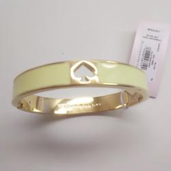 Kate Spade Jewelry | Kate Spade New Yellow Enamel Spade Bracelet | Color: Gold/Yellow | Size: 2-14 X 12
