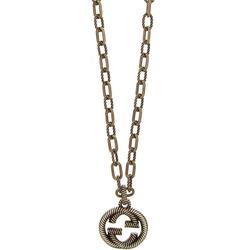 Interlocking G Necklace With Pendant Necklace - Metallic - Gucci Necklaces