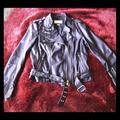 Michael Kors Jackets & Coats | Michael Kors Leather Motorcycle Jacket | Color: Black | Size: L