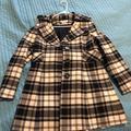 Nine West Jackets & Coats   Nine West Plaid Jacket Peacoat M Medium Black   Color: Black/White   Size: M