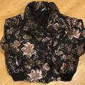 Free People Jackets & Coats | Fp Floral Jacquard Jacket Read Description | Color: Black/Gold/Gray/Tan | Size: Ps But Best Ml