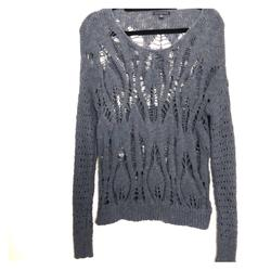 American Eagle Outfitters Sweaters | Grey Blue A&E Open Knit Sweater | Color: Blue/Gray | Size: S