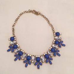 J. Crew Jewelry | J Crew Necklace Wreath Statement Necklace Bluegold | Color: Blue/Gold | Size: Os