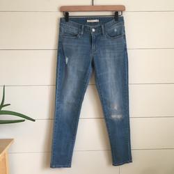 Levi's Jeans | Levis Skinny Jean Levis Jeans Jeggings Nwot 711 | Color: Blue/White | Size: 26