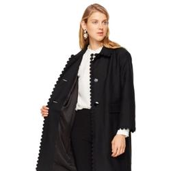 Kate Spade Jackets & Coats   Kate Spade Floral Lace Trim Coat In Black Size 2   Color: Black   Size: 2