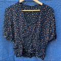 Madewell Tops | Madewell Smocked Waist Top , Womens Size Ten | Color: Blue | Size: 10