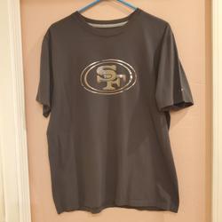 Nike Shirts | Nike San Francisco 49ers Nfl Short Sleeve T-Shirt | Color: Gray/Silver | Size: L