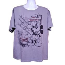 Disney Shirts | Disney Store Mickey Mouse San Francisco T-Shirt Xl | Color: Black/Gray | Size: Xl