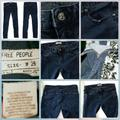 Free People Jeans   Free People Dark Skinny Jeans Zipper Detail   Color: Blue   Size: 26