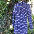 Jessica Simpson Jackets & Coats | Polka Dot Jacket | Color: Blue/White | Size: M