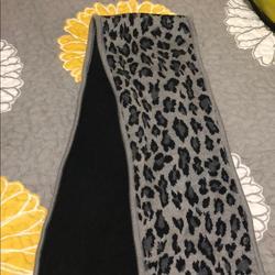 Ralph Lauren Accessories | Lauren Ralph Lauren Cheetah Print Scarf | Color: Black/Gray | Size: Os