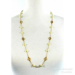 J. Crew Jewelry | J. Crew Pearl And Crystal Circle Necklace 16 | Color: Gold/White | Size: Necklace Length Drop: 16