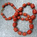 J. Crew Jewelry   Long J.Crew Orange Beaded Necklace With Crystals   Color: Gold/Orange   Size: Os