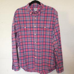 J. Crew Shirts | J Crew Madras Shirts Tailored By J Crew | Color: Blue/Pink | Size: L