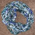 American Eagle Outfitters Accessories | Floral, Water Color Scarf | Color: Blue/White | Size: Os