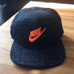 Nike Accessories | New Nike Orange Swoosh Black Hat Pro Sizing | Color: Black/Orange | Size: Os