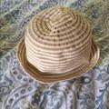 Nine West Accessories | Nine West Summer Bowler Hat | Color: Tan/Yellow | Size: Medium To Small Head
