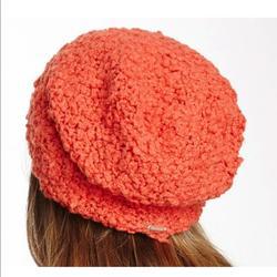 Free People Accessories   Free People Fuzz Tangerine Orange Knit Beanie Hat   Color: Orange   Size: Os