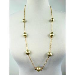 J. Crew Jewelry | J. Crew Black Faux Pearl And Crystal Necklace | Color: Gold/Gray | Size: Necklace Drop: 16 12