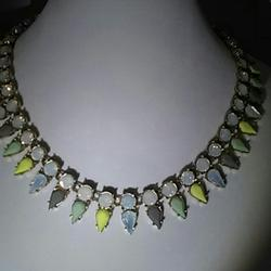 J. Crew Jewelry   J. Crew Crystal Collar Necklace 18 Inches   Color: Cream/Gold   Size: 18 Inch Length