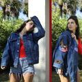 Levi's Jackets & Coats | Levi X Harley Davidson Patch Denim Trucker Jacket | Color: Blue/Red | Size: L