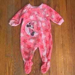 Disney One Pieces | Disney Minnie Mouse Baby Girls Pajamas 3-6 M | Color: Pink | Size: 3-6mb