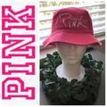 Pink Victoria's Secret Accessories | Pink Victorias Secret Hat | Color: Pink/White | Size: Small -Med