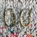 Anthropologie Jewelry   Hammered Gold Oval Hoops   Color: Gold   Size: Os