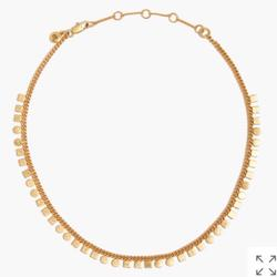 Madewell Jewelry | Madewell Geochain Choker Necklace | Color: Gold | Size: 17