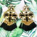 Kate Spade Jewelry   Kate Spade Aztec Fringe Earrings   Color: Black/Gold   Size: Os