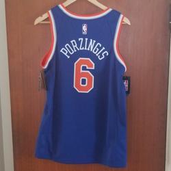 Nike Shirts | Porzingis New York Knicks Jersey New Men'S Size S | Color: Blue/Orange | Size: S