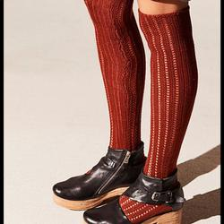 Free People Accessories   Free People Woodland Pointelle Socks Nwt   Color: Orange   Size: Os
