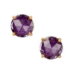 Kate Spade Jewelry | Kate Spade Crystal Cushion Cut Gumdrop Earrings | Color: Gold/Purple | Size: Os