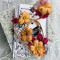 Free People Accessories | Free People Floral Braid Festival Hair Clip | Color: Orange/Red | Size: Os