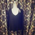 American Eagle Outfitters Tops | Nwt American Eagle Soft And Sexy Ls Top | Color: Black | Size: M
