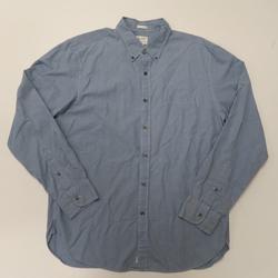 J. Crew Shirts   J Crew 2-Ply Cotton Ls Button Front Shirt   Color: Blue   Size: L