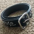 Ralph Lauren Accessories | Ralph Lauren Black Studded Leather Belt (M) | Color: Black | Size: Medium