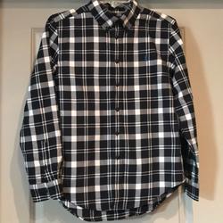 Ralph Lauren Shirts   Polo Ralph Lauren Big Boys Cotton Poplin Shirt   Color: Black   Size: L