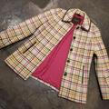 Coach Jackets & Coats | Coach Wool Coat With Leather Trim | Color: Cream/Pink | Size: Xs