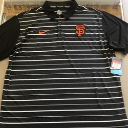 Nike Shirts   Nike San Francisco Giants Dri-Fit Polo Golf Shirt   Color: Black/White   Size: L